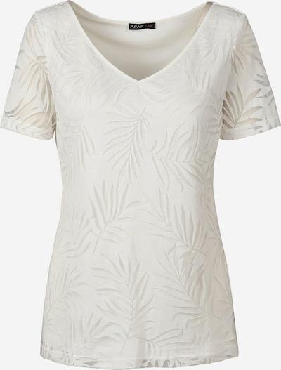 APART T-Shirt Ausbrenner-Style in creme, Produktansicht