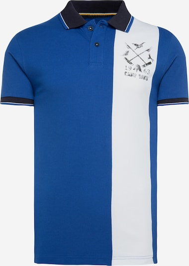 CAMP DAVID Poloshirt in blau / weiß, Produktansicht