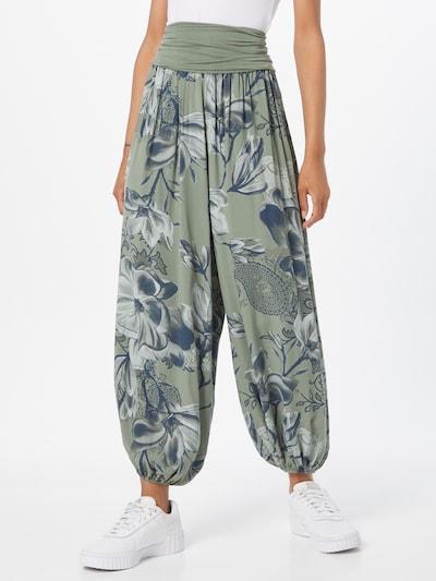 Hailys Harem hlače 'Jasmin' u tamno plava / kaki / bijela, Prikaz modela