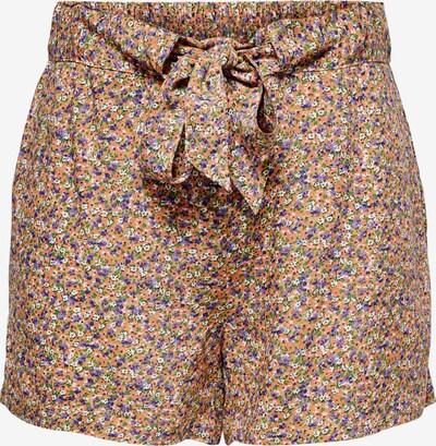 JDY Trousers 'Staar' in Light brown / Dark purple / Pastel red / White, Item view