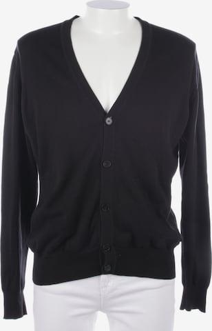 HUGO BOSS Pullover / Strickjacke in XL in Schwarz