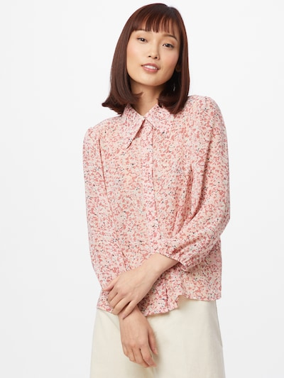 ONLY Blouse 'MISTY' in Pink / Dusky pink / Black, View model