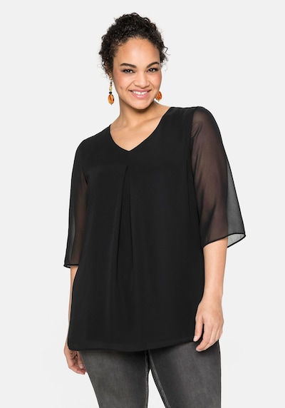 SHEEGO Tunic in Black, View model