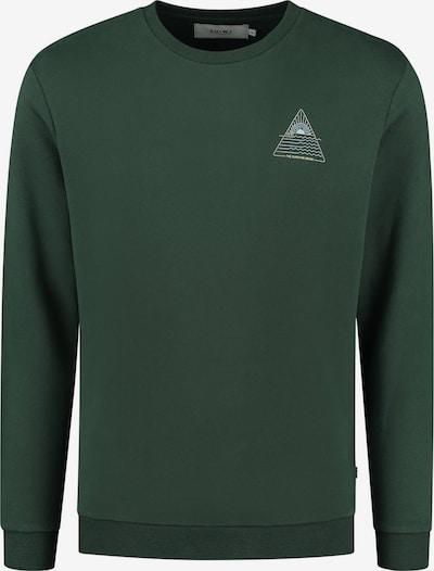 Shiwi Sweatshirt in dunkelgrün / weiß, Produktansicht