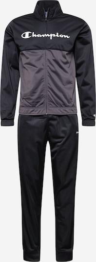 Champion Authentic Athletic Apparel Träningsoverall i grå / svart / vit, Produktvy
