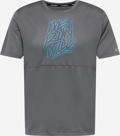 NIKE Sporta krekls 'Wild Run', krāsa - debeszils / pelēks, Preces skats