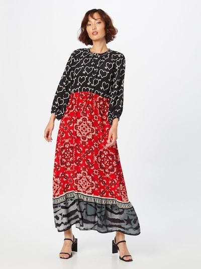 Grace Kleid in rot / schwarz / weiß, Modelansicht