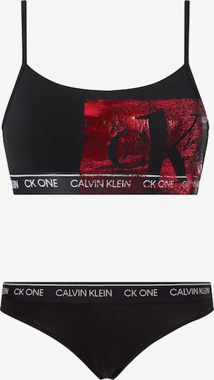 Calvin Klein Underwear Bralette und Slip in rot / schwarz, Produktansicht
