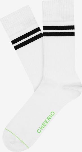 CHEERIO* Къси чорапи 'TENNIS TYPE' в черно / бяло, Преглед на продукта