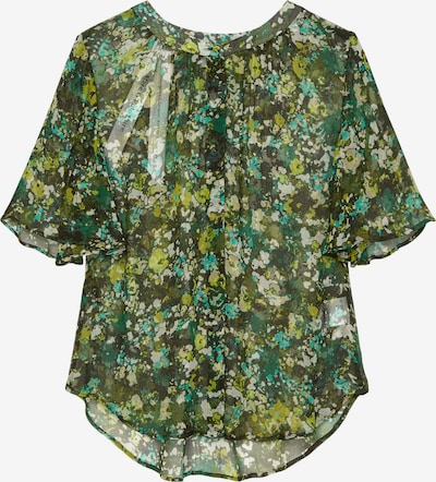 Marc O'Polo Pure Bluse in grün / mischfarben, Produktansicht