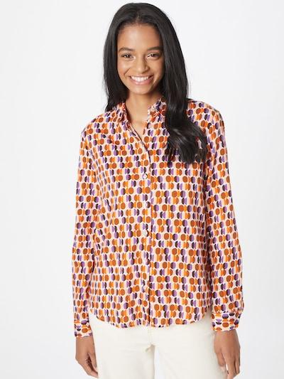 Emily Van Den Bergh Bluse in braun / lila / orange / weiß, Modelansicht