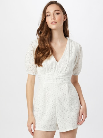 Missguided Overal 'BRODERIE' - biela