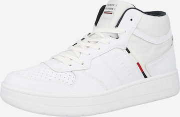 TOMMY HILFIGER High-Top Sneakers in White