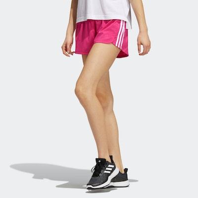 ADIDAS PERFORMANCE Shorts in fuchsia / weiß, Modelansicht