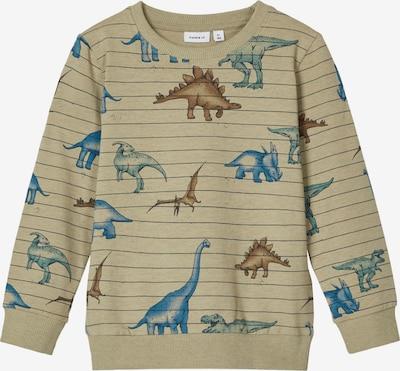 NAME IT Sweatshirt 'THUES' in himmelblau / karamell / hellbraun / smaragd / schwarz, Produktansicht