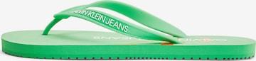 Tongs Calvin Klein Jeans en vert
