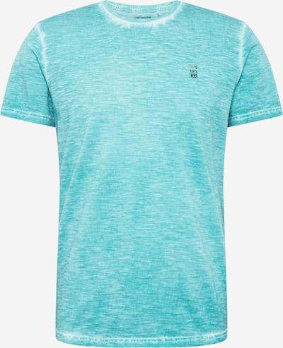 No Excess Shirt in de kleur Turquoise / Wit gemêleerd: Vooraanzicht