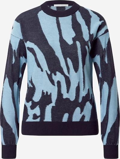 BOSS Casual Пуловер 'C_Fata' в светлосиньо / тъмносиньо, Преглед на продукта