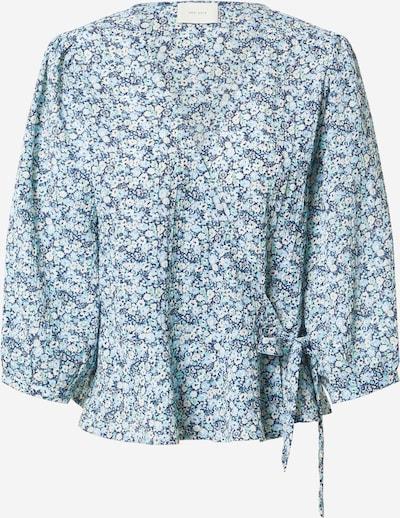 Neo Noir Bluse i blå / lyseblå / hvid, Produktvisning