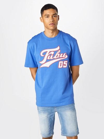 FUBU Функционална тениска 'Varsity' в небесносиньо / малина / бяло: Изглед отпред