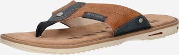 MUSTANG T-Bar Sandals in Brown