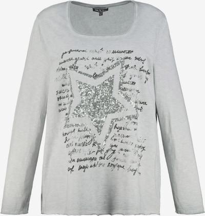 Tricou Ulla Popken pe gri deschis / negru / argintiu, Vizualizare produs