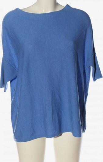 Adolfo Dominguez Rundhalspullover in S in blau, Produktansicht