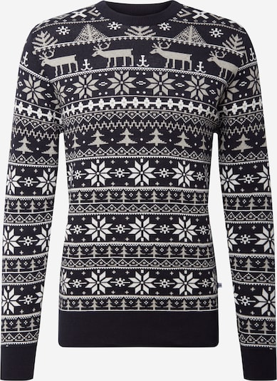 Kronstadt Sweater 'Ugly X-mas' in black / white, Item view