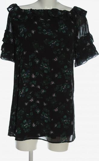 Fashion Union Carmen-Bluse in S in grün / schwarz / weiß, Produktansicht