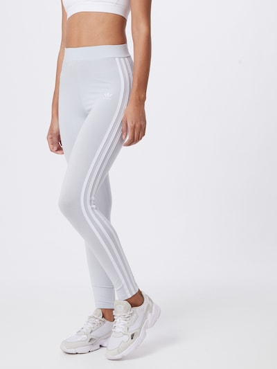 ADIDAS ORIGINALS Leggings en gris claro / blanco, Vista del modelo