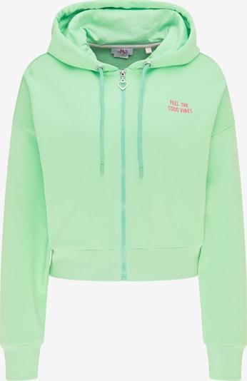 MYMO Sweatjacke in mint / pink, Produktansicht