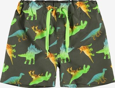 Pantaloncini da bagno 'DINO' NAME IT di colore blu / cachi / lime / arancione, Visualizzazione prodotti