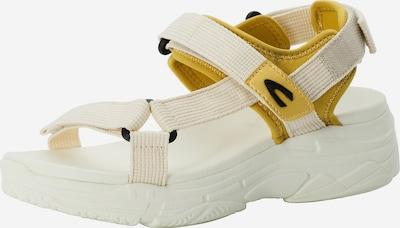 CAMEL ACTIVE Sandale in creme / gelb: Frontalansicht
