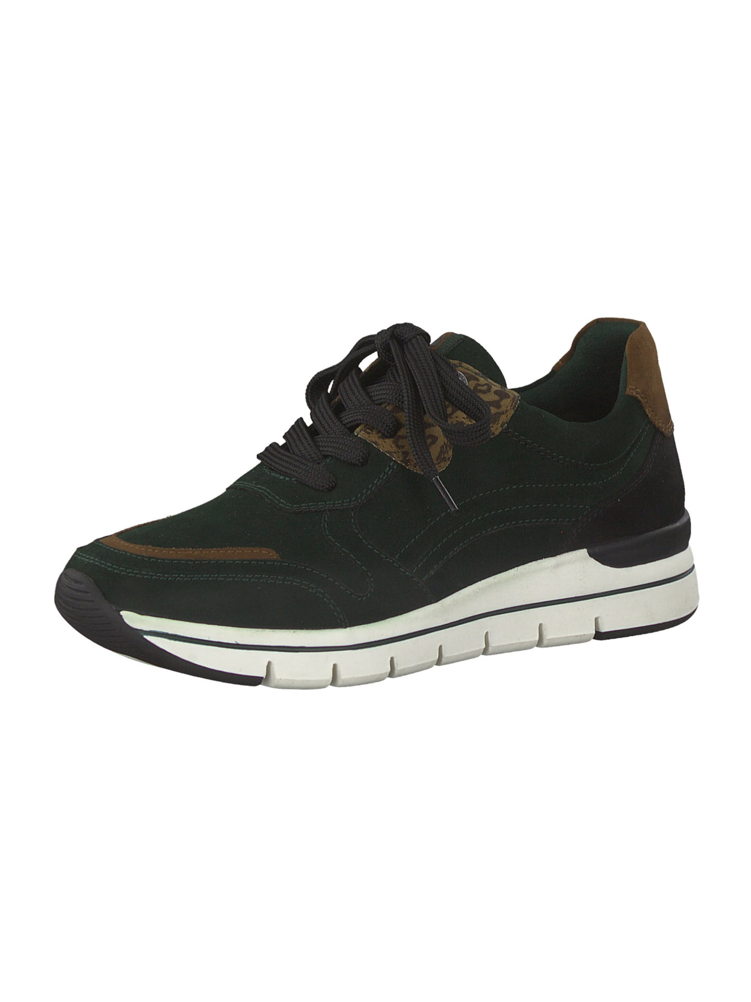 Earth Edition by Marco Tozzi Rövid szárú edzőcipők barna / sötétzöld színben