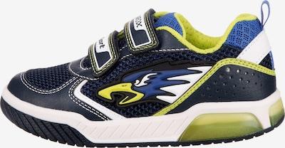 GEOX Kids Sneaker in blau / dunkelblau / hellgrün / weiß, Produktansicht