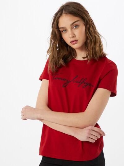 TOMMY HILFIGER T-Shirt in rot / schwarz: Frontalansicht