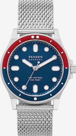 SKAGEN Uhr in blau / silber, Produktansicht
