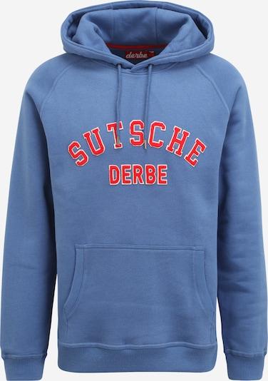 Derbe Sweatshirt in de kleur Duifblauw / Rood, Productweergave