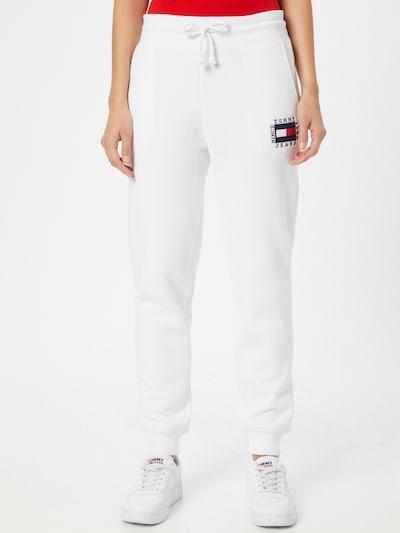 Tommy Jeans Hlače u mornarsko plava / crvena / bijela, Prikaz modela