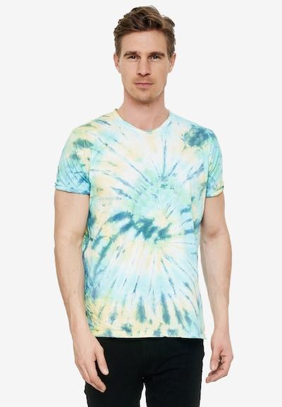 Rusty Neal T-Shirt im zeitlosen Batik-Look in türkis: Frontalansicht