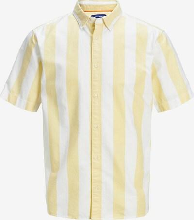 JACK & JONES Hemd in hellgelb / weiß, Produktansicht