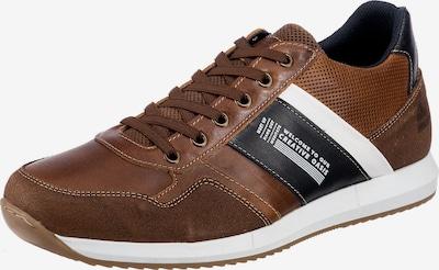 BULLBOXER Sneaker in dunkelblau / karamell / weiß, Produktansicht