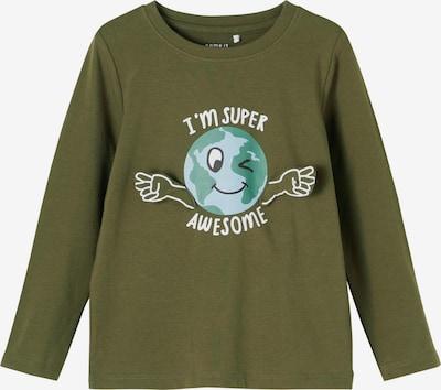 NAME IT Shirt 'Planet' in de kleur Lichtblauw / Kaki / Jade groen / Zwart / Wit, Productweergave