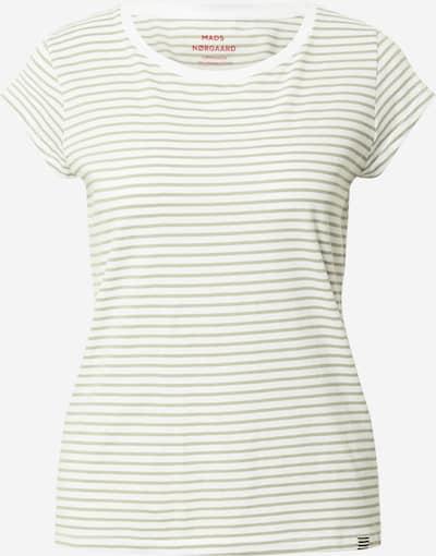 MADS NORGAARD COPENHAGEN Shirt in de kleur Kaki / Wit, Productweergave