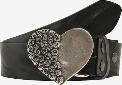RETTUNGSRING by showroom 019° Echtledergürtel Masterlux mit austauschbarer Rosenherz-Schließe in schwarz, Produktansicht