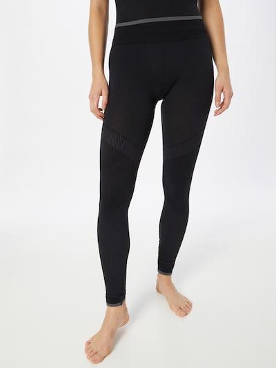 ICEBREAKER Sporthose 'Zone' in grau / schwarz, Modelansicht