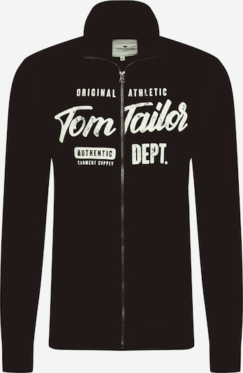 TOM TAILOR Sweatjacke in schwarz / weiß, Produktansicht
