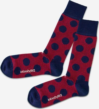 DillySocks Socken in navy / dunkelrot / weiß, Produktansicht