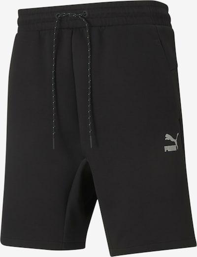 PUMA Sportbroek 'Classics Tech' in de kleur Zwart / Wit, Productweergave