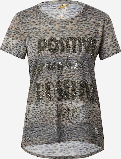 Key Largo T-Shirt 'POSITIVE' in hellbeige / taupe, Produktansicht